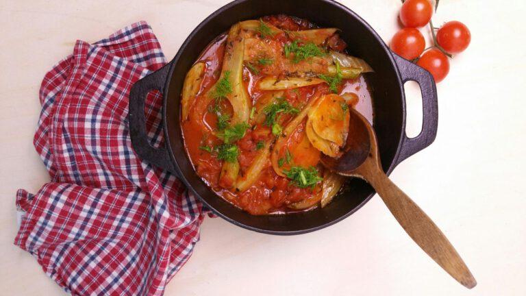 Thumbnail voor het recept: Gesmoorde venkel met tomaat