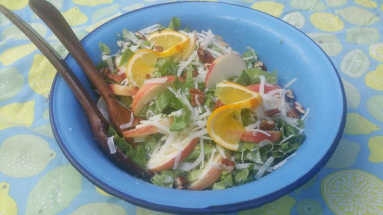 Thumbnail voor het recept: Andijviesalade met appel en sinaasappel