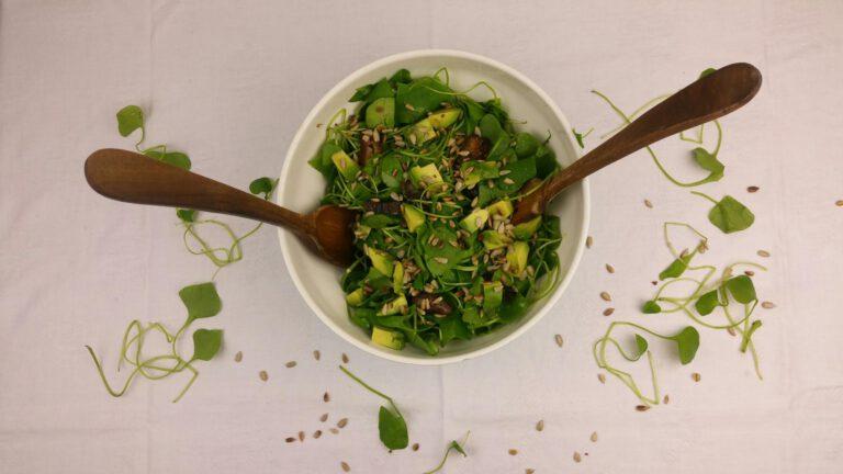 Thumbnail voor het recept: Winterposteleinsalade met dadels en avocado