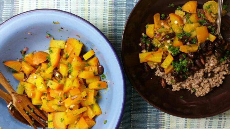 Thumbnail voor het recept: Gele bieten met sinaasappel à la Ottolenghi