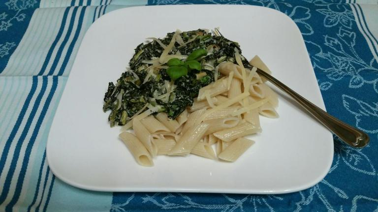 Thumbnail voor het recept: Boerenkool met pasta