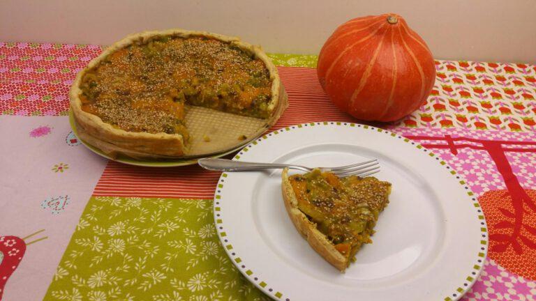Thumbnail voor het recept: Taart met pompoen & bleekselderij en roquefort