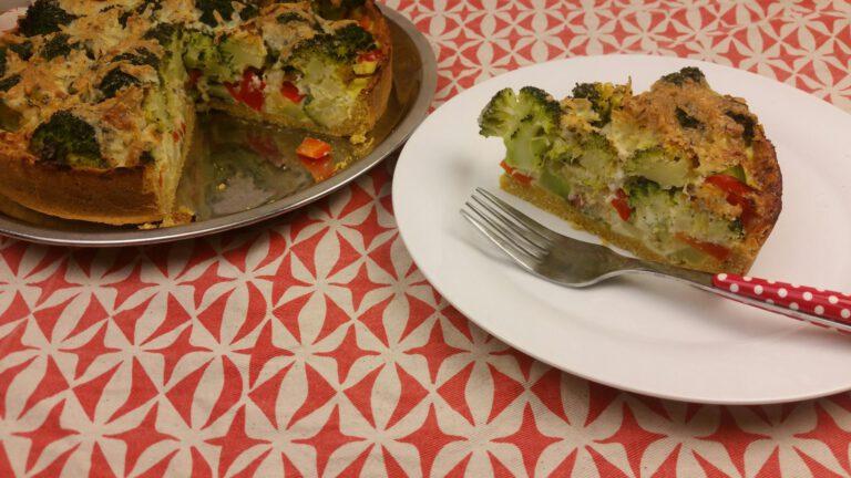 Thumbnail voor het recept: Glutenvrije broccoliquiche