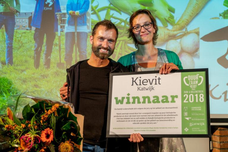 Thumbnail voor het recept: Kievit wint Duurzaamheidsprijs Duin- & Bollenstreek 2018!