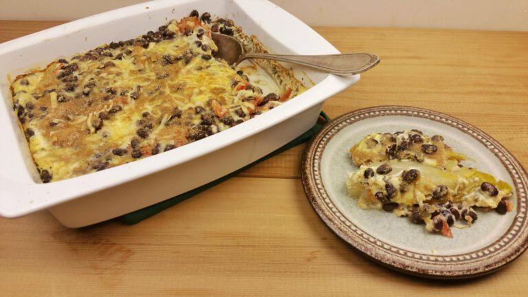 Thumbnail voor het recept: Witlofstoof/Chinese kool stoof met bonen en tomaat
