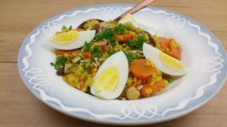 Thumbnail voor het recept: Kedgeree met wortels