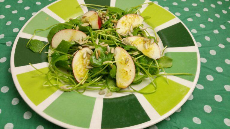 Thumbnail voor het recept: Winterposteleinsalade met appel