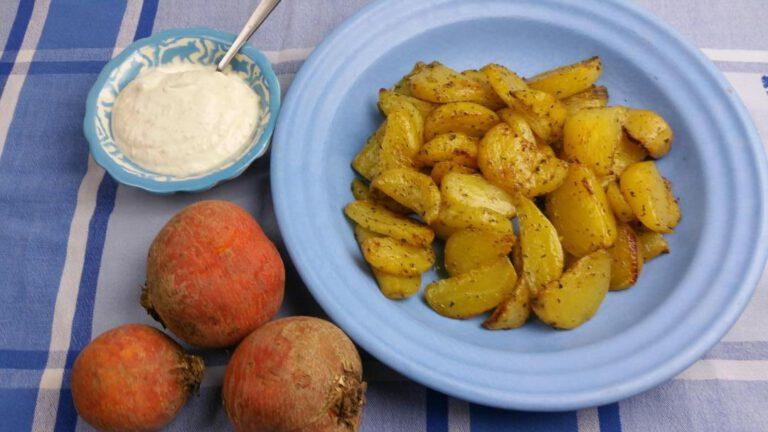 Thumbnail voor het recept: Gele bietjes met citroen en mierikswortelroom