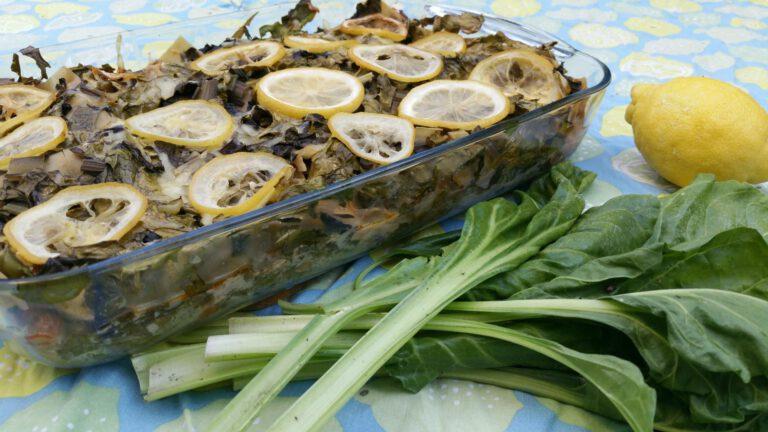 Thumbnail voor het recept: Snijbietlasagne met citroen