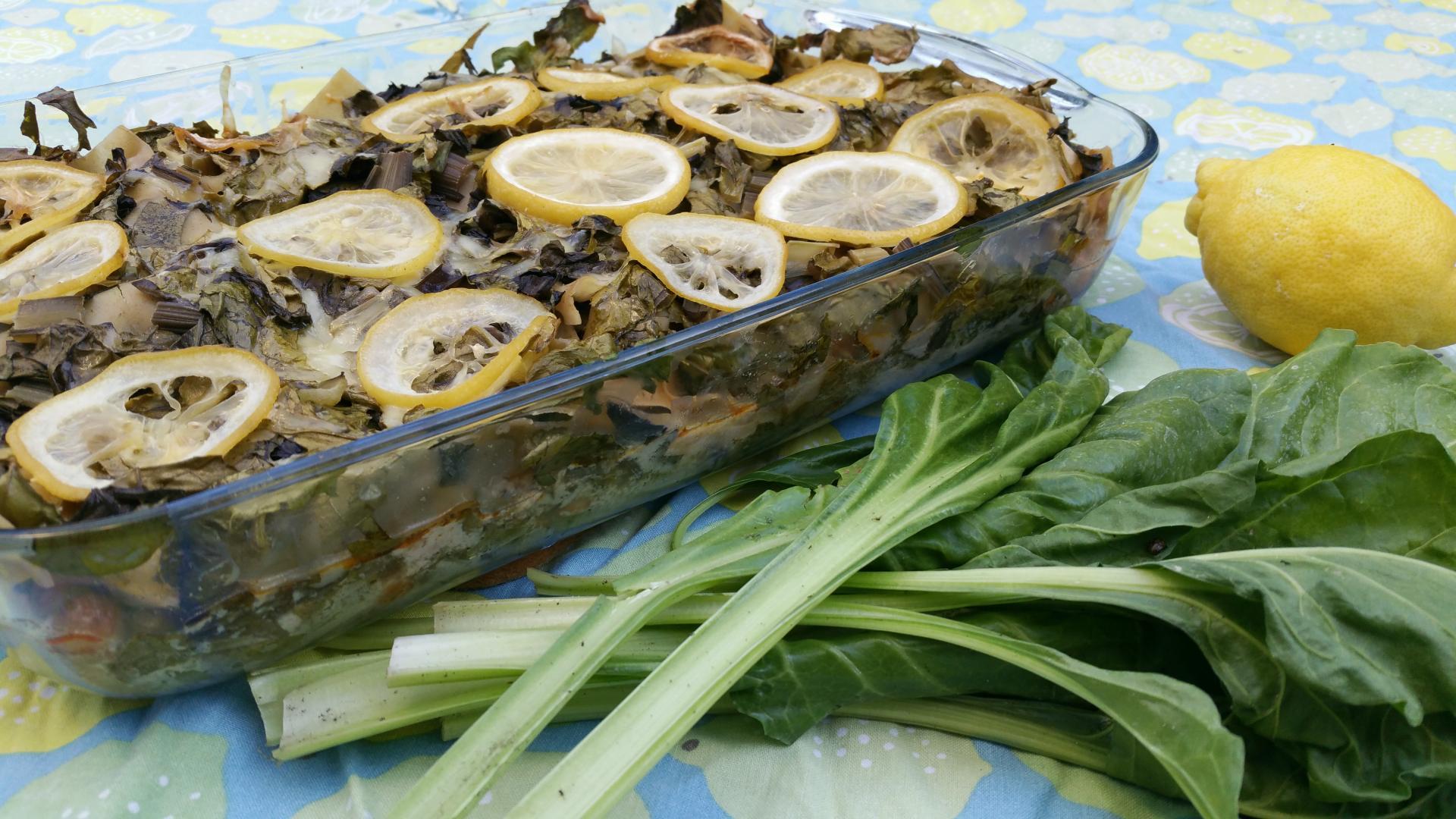 Snijbiet lasagne met citroen