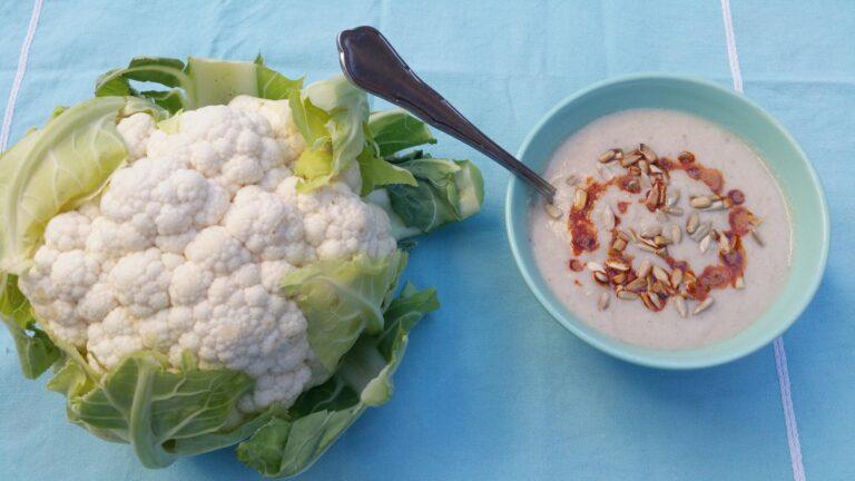 Thumbnail voor het recept: Bloemkool soep