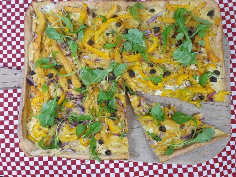 Thumbnail voor het recept: Pizza met koolraap