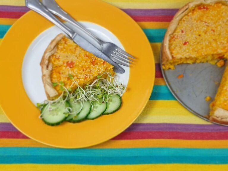 Thumbnail voor het recept: Pompoentaart met sinaasappel en gember