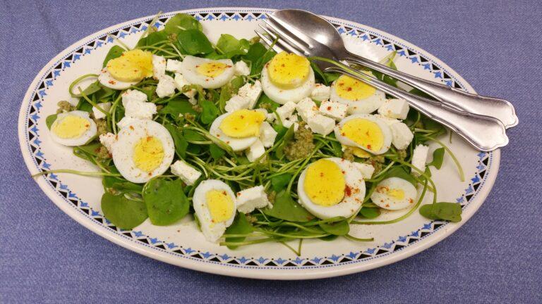 Thumbnail voor het recept: Winterposteleinsalade met zonnebloempittensaus