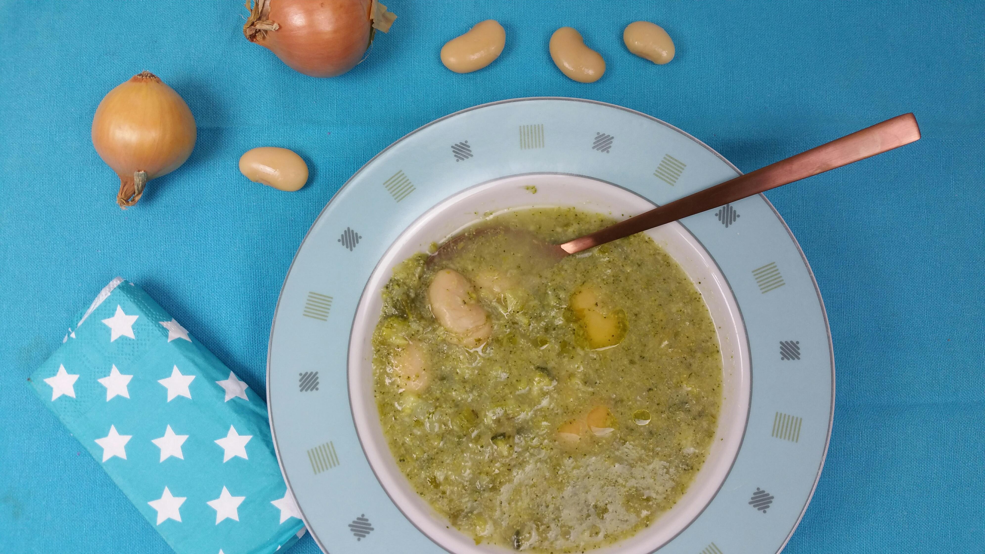 Uitgelichte foto voor het bericht Broccolisoep met bonen