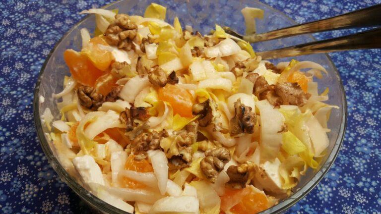Thumbnail voor het recept: Witlofsalade met mandarijn