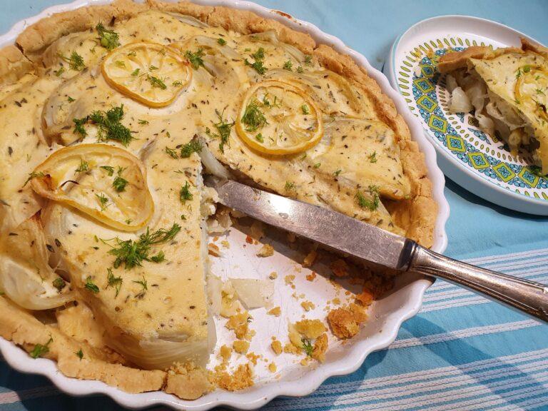 Thumbnail voor het recept: Venkeltaart met citroen