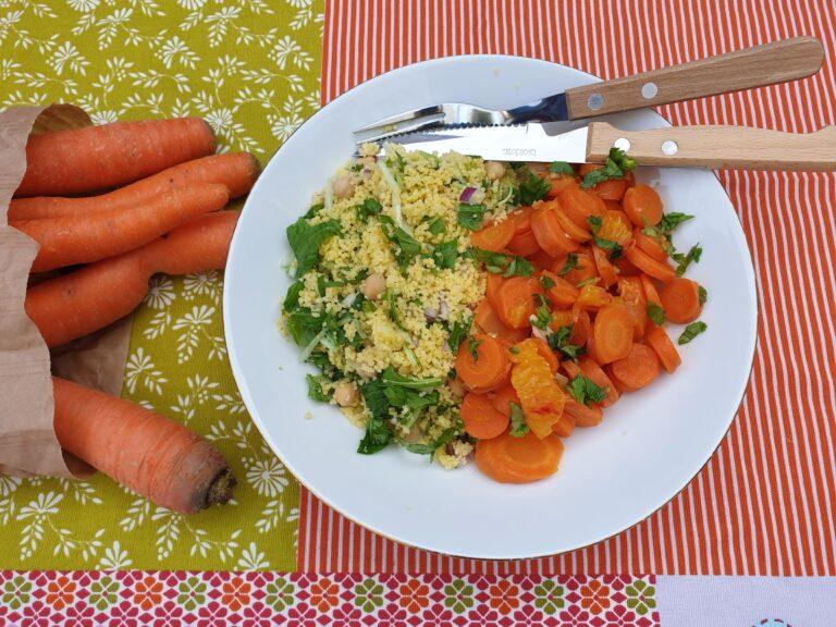 Thumbnail voor het recept: Geroerbakte wortel met koriander en sinaasappel