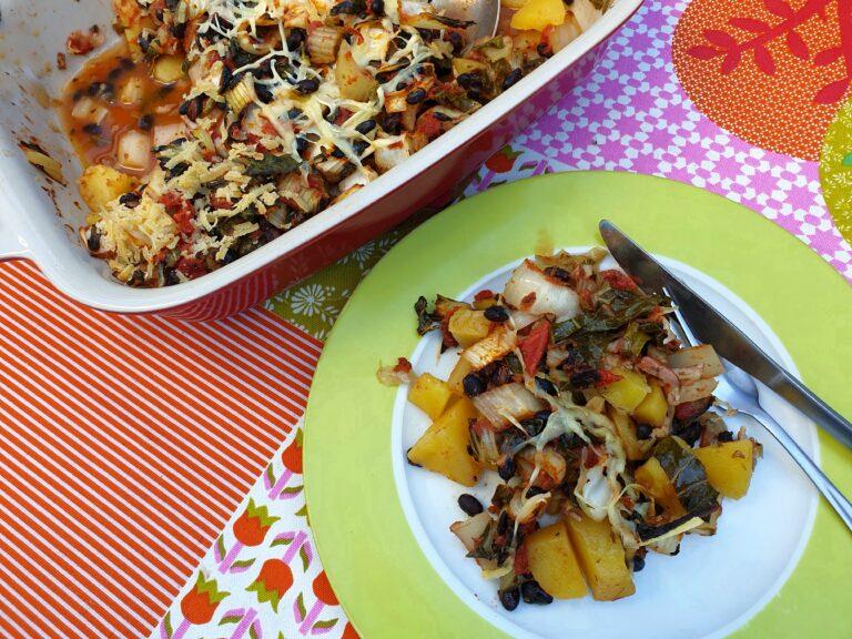Thumbnail voor het recept: Paksoi-ovenschotel