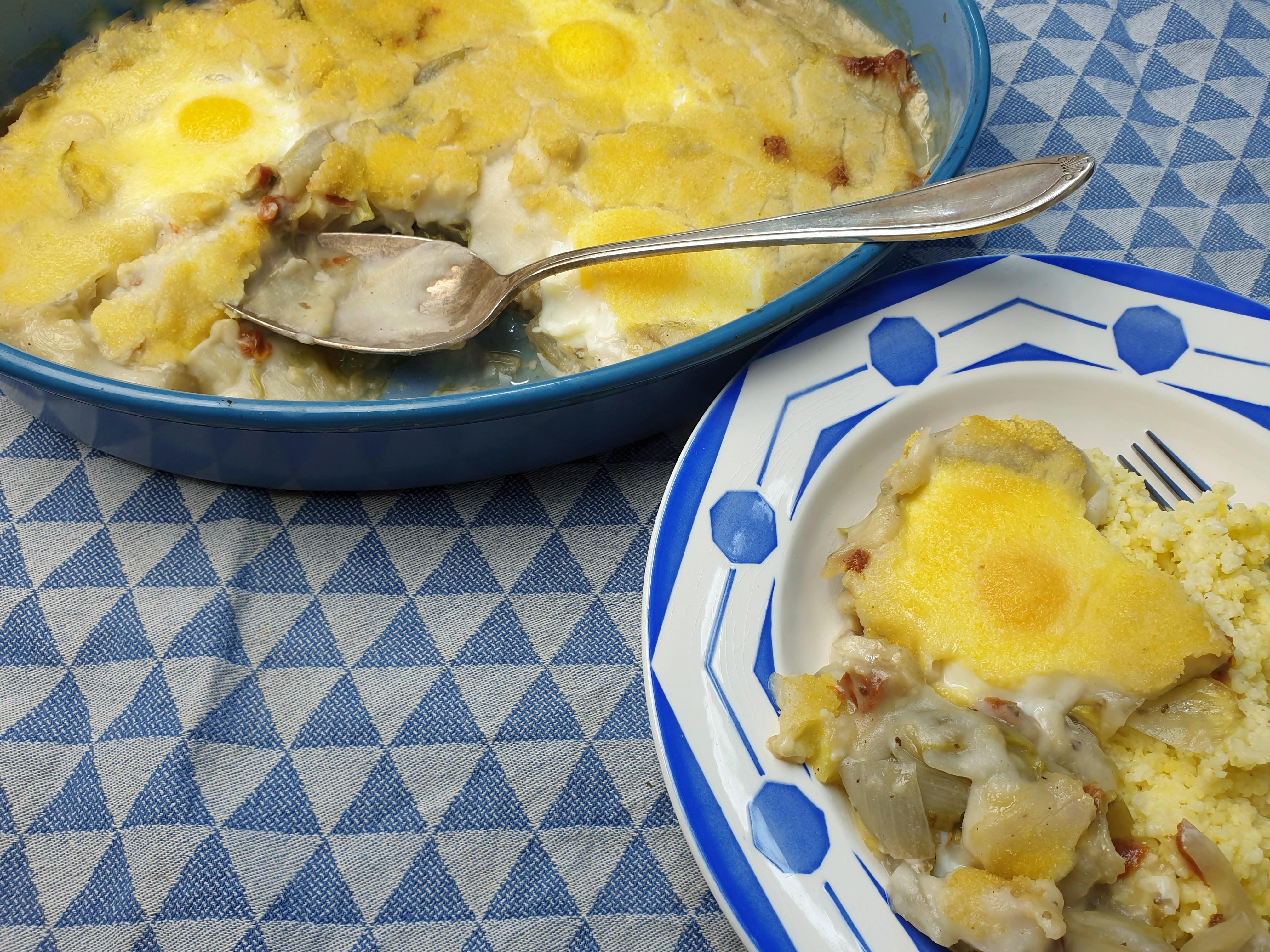 Uitgelichte foto voor het bericht Witlof met ei uit de oven