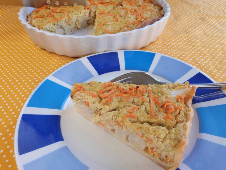 Thumbnail voor het recept: Bloemkooltaart zonder ei of kaas