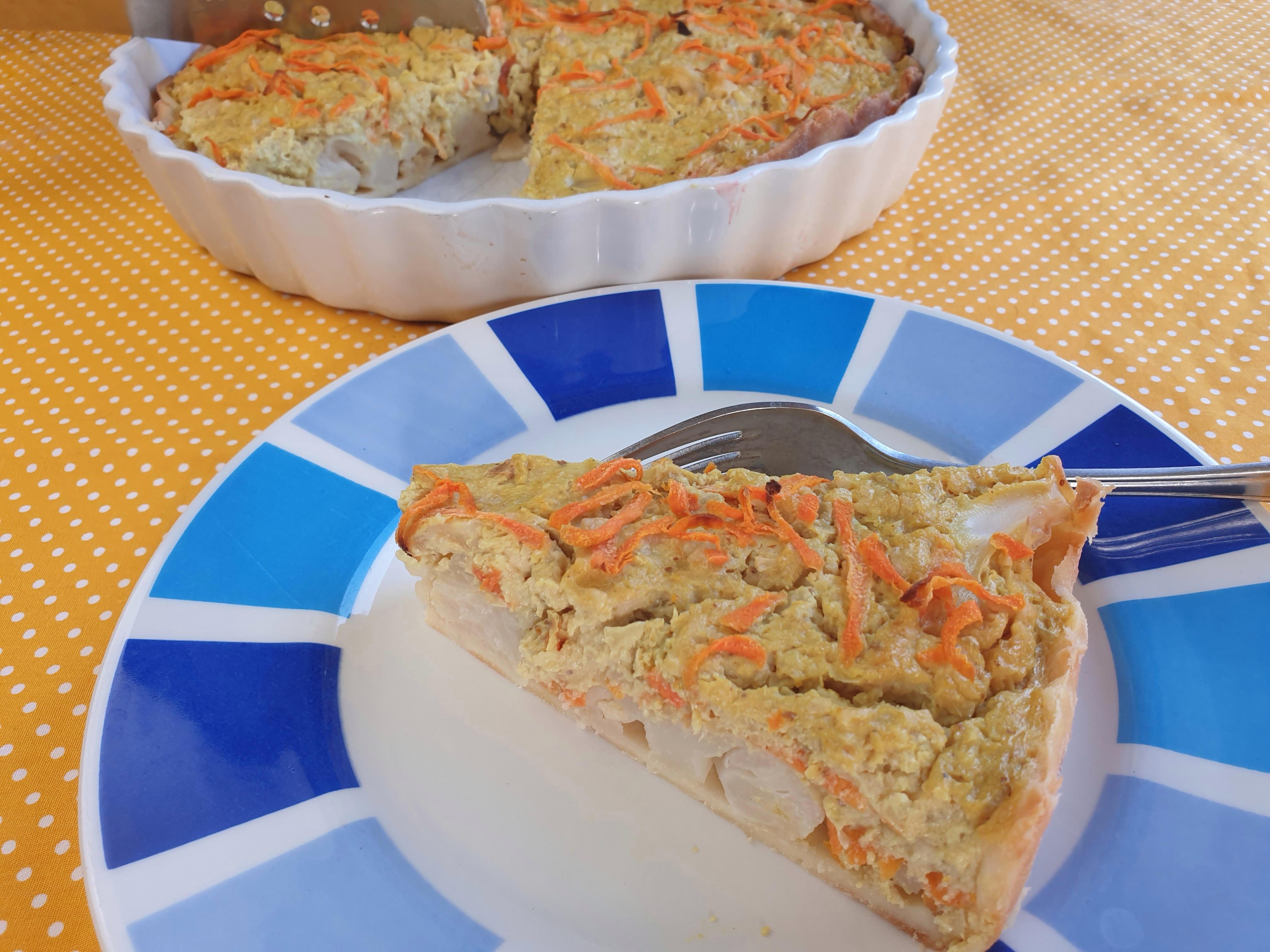 Uitgelichte foto voor het bericht Bloemkooltaart zonder ei of kaas