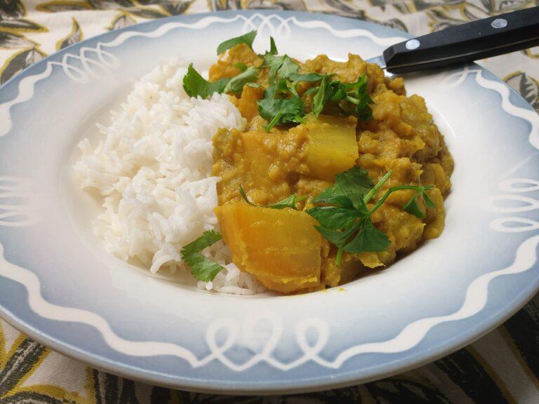 Thumbnail voor het recept: Gele bietencurry