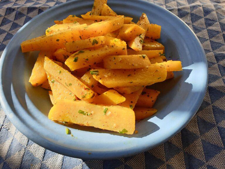 Thumbnail voor het recept: Koolraap met citroen en ras el hanout